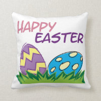 Happy Easter Home Decorations Throw Pillow