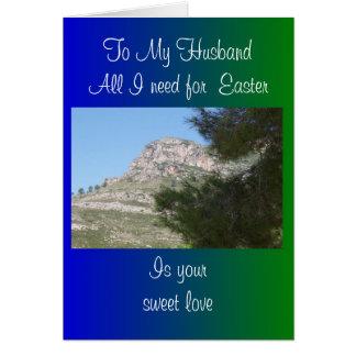 Happy Easter Husband Card - Landscape