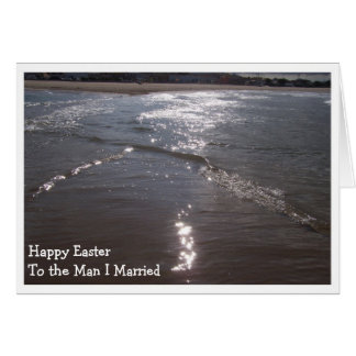 Happy Easter Husband Card - The Sea