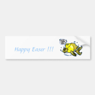 HAPPY EASTER I m not a Happy Bunny funny Sticker Bumper Sticker