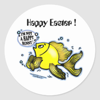 HAPPY EASTER I'm not a Happy Bunny funny Sticker
