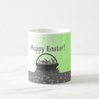 Happy Easter in black, white and green Coffee Mug