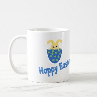 Happy Easter in blue Coffee Mug