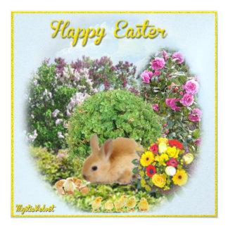 Happy Easter 5.25x5.25 Square Paper Invitation Card