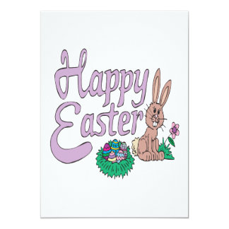 Happy Easter 5x7 Paper Invitation Card