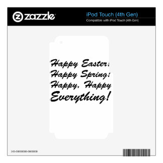 happy Easter iPod Touch 4G Skin