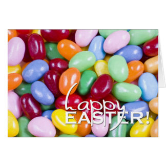 Happy Easter Jellybeans Greeting Card