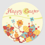 Happy Easter kids Wrist Round Stickers