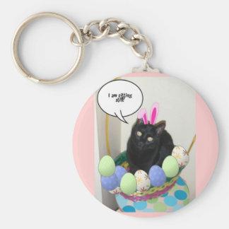 Happy Easter Kitty Keychain