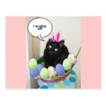 Happy Easter Kitty Postcard