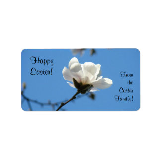 Happy Easter Labels gifts Homemade Goodies Floral