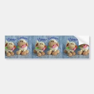 Happy Easter Lambs Bumper Sticker