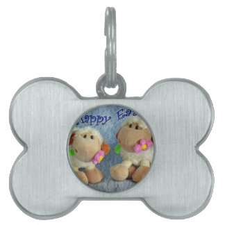 Happy Easter Lambs Pet ID Tag