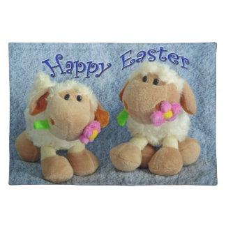 Happy Easter Lambs Placemat