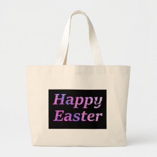 Happy Easter Large Tote Bag