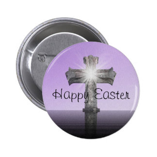 Happy Easter lavender Pinback Button
