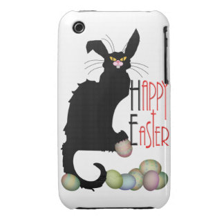 Happy Easter - Le Chat Noir iPhone 3 Case-Mate Case