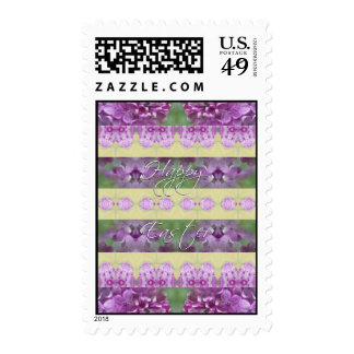Happy Easter Lilacs Postage Stamps