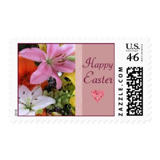 Happy Easter Lily Postage Stamps