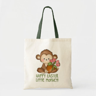 Happy Easter Little Monkey tote bag