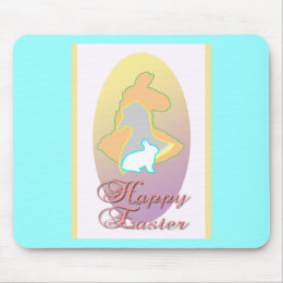 Happy Easter Llama Easter Bunny Easter Goose Mouse Pad