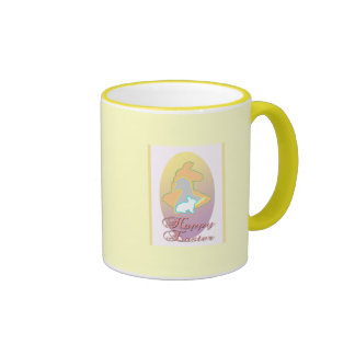 Happy Easter Llama Easter Bunny Easter Goose Coffee Mug