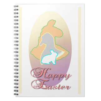 Happy Easter Llama Easter Bunny Easter Goose Spiral Notebook