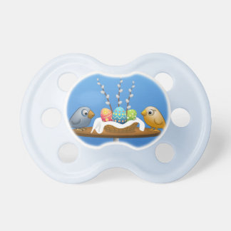 Happy Easter Love Birds Pacifier
