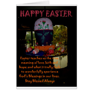 Happy Easter Love Faith and Hope Wishes Card