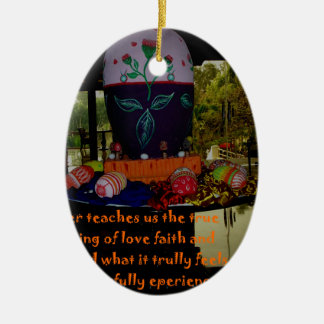 Happy Easter Love Faith and Hope Wishes Ceramic Ornament