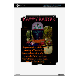 Happy Easter Love Faith and Hope Wishes Decals For iPad 3