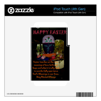 Happy Easter Love Faith and Hope Wishes iPod Touch 4G Decal