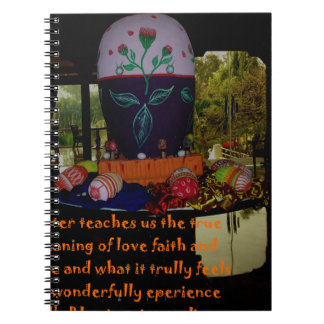 Happy Easter Love Faith and Hope Wishes Notebook