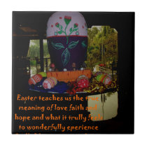 Happy Easter Love Faith and Hope Wishes Tile