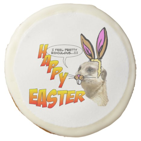 Happy Easter Meerkat Sugar Cookies