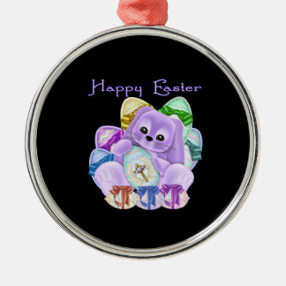 Happy Easter Metal Ornament