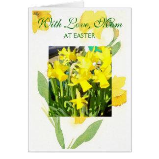 Happy Easter Mom Card - Daffodils