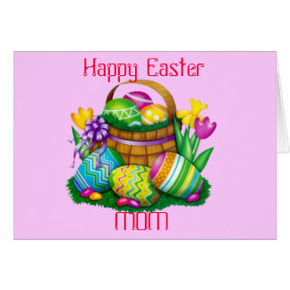 Happy Easter Mom Card (Fully Customizable)