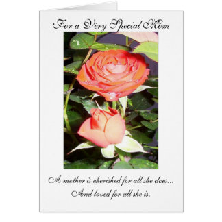 Happy Easter Mom Card - Roses