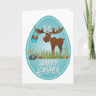 Happy Easter Moose - Card