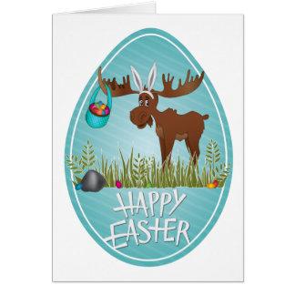 Happy Easter Moose - Card
