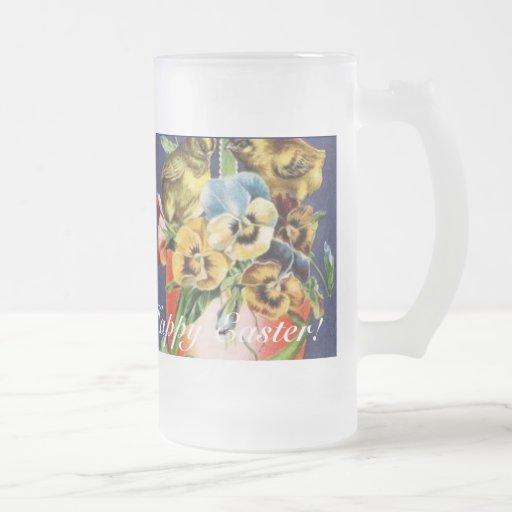 Happy Easter Mug! 16 Oz Frosted Glass Beer Mug