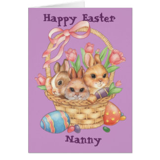 Happy Easter Nanny (Fully Customizable) Card