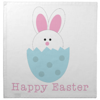 Happy Easter Printed Napkin