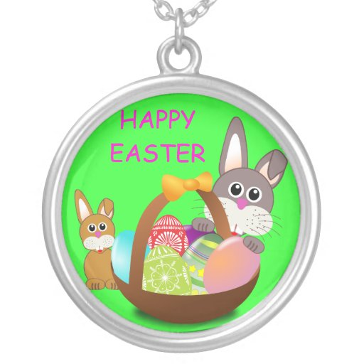 HAPPY EASTER PERSONALIZED NECKLACE
