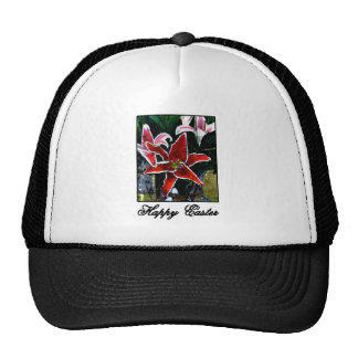 Happy Easter o Black Tiger Lily The MUSEUM Zazzle Trucker Hat