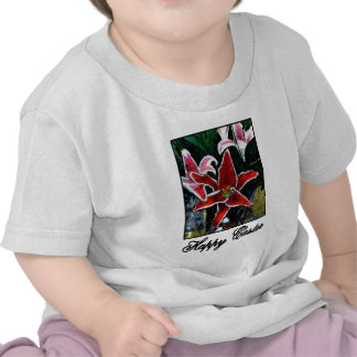 Happy Easter o Black Tiger Lily The MUSEUM Zazzle Tshirt