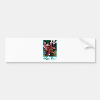 Happy Easter o Cyan Tiger Lily The MUSEUM Zazzle G Bumper Sticker