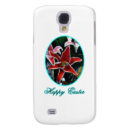Happy Easter o Cyan Tiger Lily The MUSEUM Zazzle G Samsung Galaxy S4 Cases