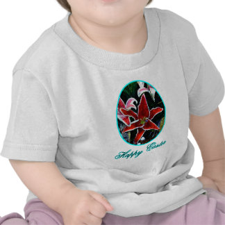 Happy Easter o Cyan Tiger Lily The MUSEUM Zazzle G Tshirts